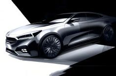2017 Kia Cadenza Previewed in Design Sketches. New large sedan debuts next year.