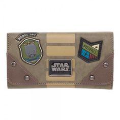 Rogue One A Star Wars Story Rebel Logo JR's Flap Wallet K-2SO NEW! #Bioworld #FlapWallet