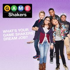 Promo type Game Shakers: What's your Game Shakers Dream Job? Nickelodeon Game Shakers, Nickelodeon Shows, Cree Cicchino Age, Nick Games, Bella And The Bulldogs, Dan Schneider, Beautiful Women Pictures, Sports Games, Funny Games