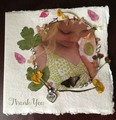 A beautiful flower collage using pressed flowers and leaves. Art Activities For Kids, Fun Crafts For Kids, Preschool Crafts, Crafts To Make, Art For Kids, Arts And Crafts, Wacky Holidays, Holidays With Kids, Flower Collage