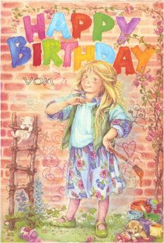 My Lisi Martin cards, children,not for trade Happy Birthday Kids, Funny Happy Birthday Pictures, Holly Hobbie, Birthday Clips, Spanish Artists, Tatty Teddy, Painting Gallery, Happy B Day, Vintage Birthday