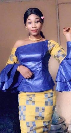 African Attire, African Fashion Dresses, Fashion Outfits, African Outfits, African Lace, African Dress, Ankara Long Gown Styles, Ankara Skirt And Blouse, African Design
