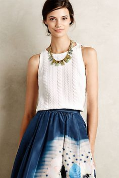 Cableknit Tank #anthropologie