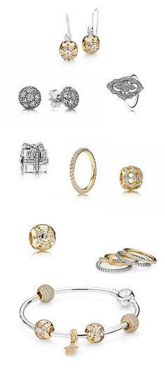 Some of my favorite glimmery goodness from Pandora @officialpandora | www.goldcasters.com