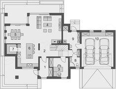Projekt domu Faros 2 162,57 m2 | extradom