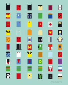 Super héros minimalistes minimaliste super heros design bonus