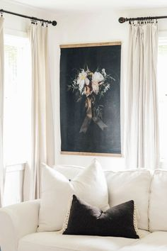 This Elegant Florals Vintage Inspired Tapestry is available in multiple sizes by Aimee Weaver Designs #tapestry #familyroom #floralart #aimeeweaverdesigns
