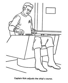 star trek coloring page - Star Trek Coloring Book
