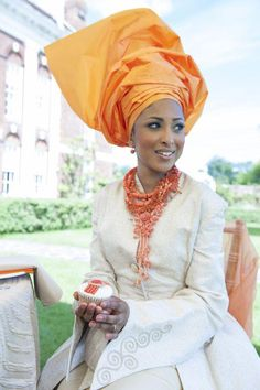 African Bride ( I want the whole look just not in white)