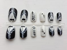 SALE -20% off James Bond Custom Made False Nails. £2.60, via Etsy.