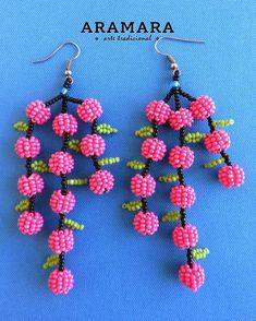 Seed Bead Earrings, Beaded Earrings, Beaded Jewelry, Seed Bead Flowers, Beaded Flowers, Lily Valentine, Handmade Birthday Gifts, Diy Birthday Banner, Art Du Fil