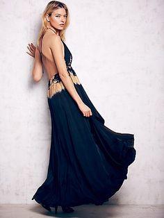 Cecilia De Bucourt Free People Love Me In Silk Tie Dye Maxi, $436.00