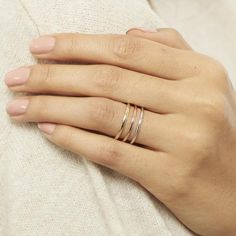 Thin and dainty, this gold band is a perfect addition to stacking rings! It also makes a great wedding band. Bracelet Size Chart, Bracelet Sizes, Necklace Length Guide, Necklace Lengths, 14k Gold Ring, 18k Gold, Stackable Bands, Stacking Rings, Gold Bands