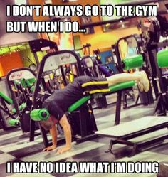 hahaha this is me on some machines lol