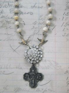 #jewelry #vintage #rhinestone #repurposed by naing