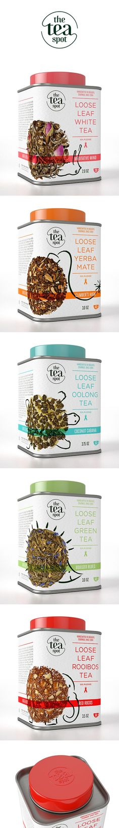 The Tea Spot - Brand Identity & Packagings: