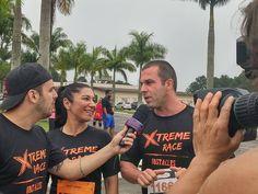 Casal fitness Casei com Personal em entrevista ao Capella, do Programa da Sabrina, da TV Record, durante a Xtreme Race. Resultado de mídia da Bendita Imagem.