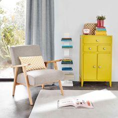 Meuble d'entrée 2 portes 3 tiroirs jaune moutarde | Maisons du Monde