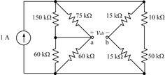 Voltage Divider PROBLEM(1) : Use current division and voltage division to find the voltage vab across terminals a-b.