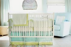 turquoise & green nursery