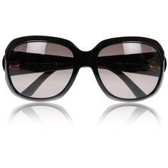 Gafas de sol Gucci Negro ovalada Gafas De Sol Gucci 19d58f5cb99