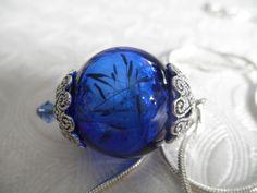 Royal Blue Glass Dandelion Seed Terrarium by giftforallseasons