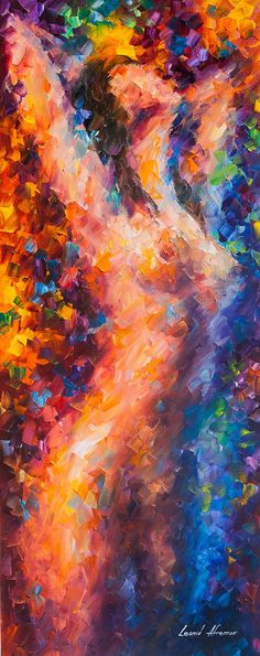Title: Quiet Lust Size: 16 x 40 inches (40 cm x 100 cm) Gallery Estimated Value: $ 25,000 Type: Original Oil Painting on Canvas by Palette Knife by Leonid Afremov  This is an original one of a kind oil painting  Here you are buying directly from the artist. Signed by the artist,