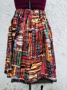#modarchivera #modabibliotecaria #librarianchic Librarian/Bookworm L/XL/Plus size skirt $28