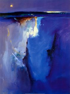 [Violet Horizon  by Peter Wileman  Tags: art, painting, abstract, landscape, blue]  ...