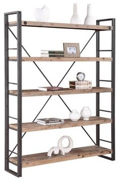 Brooklyn Large Open Bookshelf contemporary-bookcases