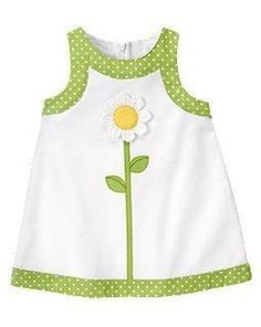 A sweet spring dress for the little one Kids Dress Wear, Little Girl Outfits, Little Girl Dresses, Kids Outfits, Baby Frocks Designs, Kids Frocks Design, Baby Dress Design, Baby Girl Dress Patterns, Baby Sewing