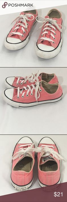 Converse All Star sneakers pink 8 A little wear but still cute Converse Shoes Sneakers