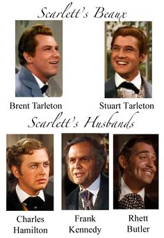 Scarlett's beaux and husbands