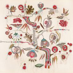 Lou Gardiner. Fruit. Contemporary Embroidery. Edition of 250
