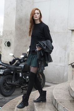 #SophieTouchet working black #offduty in Paris.