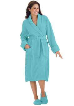 deb8a91fa1 Personalized Short Terry Robe with FREE Slippers - Women s Plus Size  Clothing Women s Plus Size Shorts