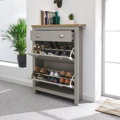 Coat And Shoe Storage, Entryway Shoe Storage, Shoe Storage Cabinet, Shoe Storage With Drawers, Shoe Storage At Front Door, Shoe Cabinet Entryway, Hemnes Shoe Cabinet, Entryway Decor, Rack Design