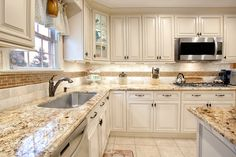 Classy decorative touches that you crave in a kitchen space with a timelessly elegant design - beautiful Fabuwood Wellington Ivory kitchen cabinets. Fabuwood Cabinets, Ivory Kitchen Cabinets, Kitchen Redo, Home Decor Kitchen, Kitchen Interior, Kitchen Design, Antique White Cabinets, Kitchen Ideas, Cream Colored Kitchen Cabinets