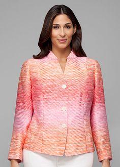Plus-Size Gelato Tweed London Jacket