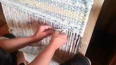 Twining a body of a rag rug in more detail video 2 ....http://www.youtube.com/watch?v=a9edMZykB14