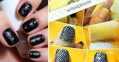 Natural Nail Designs, Black Nail Designs, Diy Nail Designs, Simple Nail Art Designs, Easy Nail Art, Rainbow Nails, Nail Art Hacks, Creative Nails, Gorgeous Nails