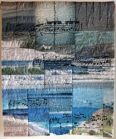 """""""La mer - jeux des vagues"""" by Anneliese Jaros.   After """"La Mer"""", an orchestral composition by Claude Debussy.  The second movement is """"Jeux de vagues"""". Patchwork Gilde Austria"""