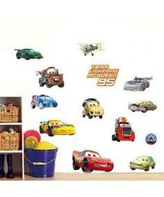 Cars 3D Pattern Wall Sticker