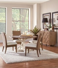 » Farmhouse 5 Pc Dining Set made of Solid Cedar Wood and Natural Wicker Chairs – Model 835-075SET Seasonal Furniture, Decor, Round Dining Room Sets, Farmhouse Dining, Furniture, Dining, Home Decor, Dining Set, Room