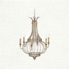 Inspired by 17th century French fashion, the Marie chandelier speaks volumes with its evocative silhouette and opulent gilded finish. Like the silke