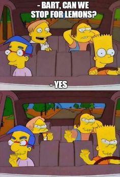 The Best Simpsons Lemon Memes Simpsons Meme, The Simpsons, Simpsons Frases, Simpsons Quotes, Spongebob Memes, Los Simsons, Funny Memes, Hilarious, Funny Vidos