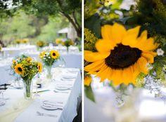 Sunflower filled River Place Wedding by Genevieve Fundaro {Carin & Darren} | SouthBound Bride #sunflower #wedding