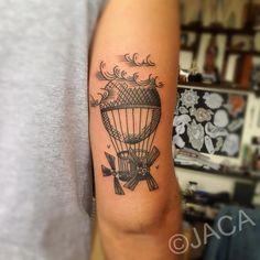 Hot air balloon tattoo by JACA