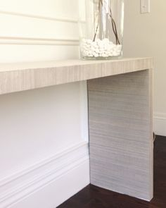 Nice DIY IKEA Hack   Malm Table To Grasscloth Console