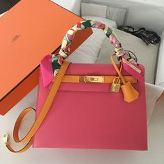 Luxury Bag Hermes Kelly Bag In Rose For Fashion Women. Replica Handbags f000e5b083880